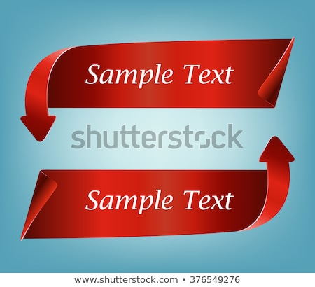 red detailed realistic curved paper sale ribbon banner stock photo © andrei_