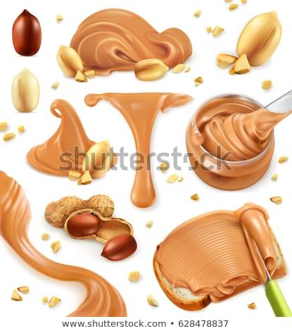 вектора набор Арахисовое масло продовольствие хлеб рисунок Сток-фото © olllikeballoon