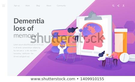 Betegség leszállás oldal beteg gondolatbuborék orvos Stock fotó © RAStudio