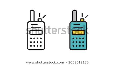 ポータブル · ラジオ · アイコン · ステンシル · デザイン · 手 - ストックフォト © smoki