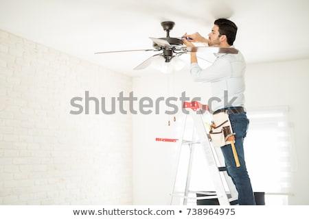 Plafond fan witte 3d illustration achtergrond Stockfoto © make