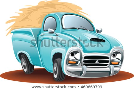 Cartoon delivery or cargo pickup truck isolated on white background Stock photo © mechanik