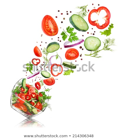 Tomates pimienta cebollas lechuga pimientos verde Foto stock © ConceptCafe