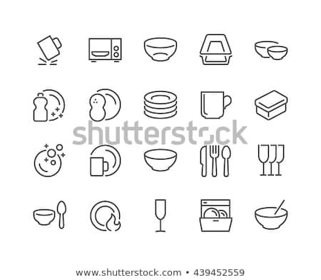 vector set of dish washing equipment stock photo © olllikeballoon