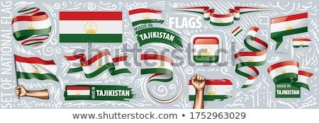 Republiek Tadzjikistan vlag drogen aarde grond Stockfoto © grafvision