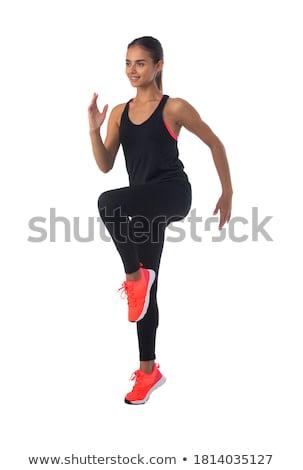 woman doing squats stock photo © jasminko