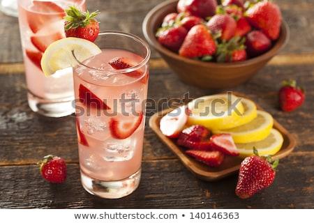 lezzetli · limonata · çilek · kokteyl · taze · su - stok fotoğraf © BarbaraNeveu