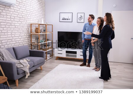 Realtor Showing Air Conditioner To Young Couple Stock photo © AndreyPopov