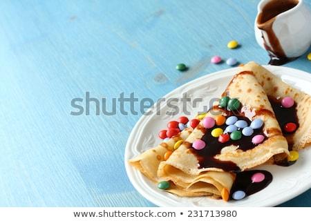 自家製 チョコレート ソース 青 木製 ストックフォト © Melnyk