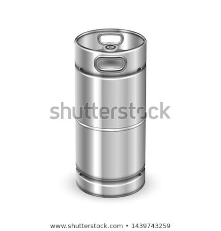 Nowoczesne chrom metal napój baryłkę wektora Zdjęcia stock © pikepicture