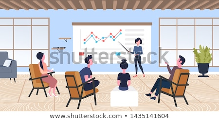 Employees working on financial report in office Stock photo © pressmaster
