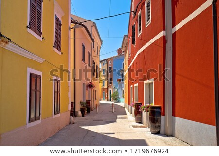 Idyllic colorful mediterranean street of Novigrad Istarski Stock photo © xbrchx