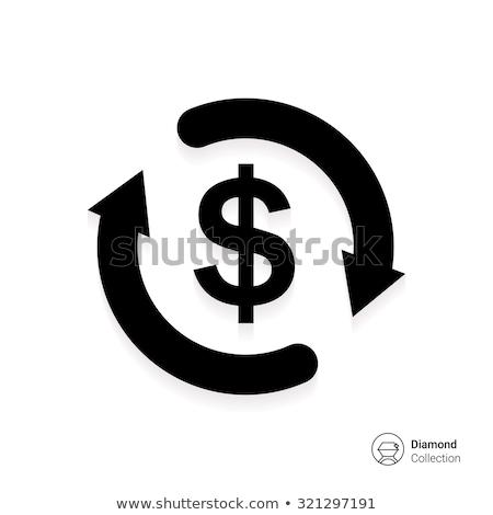 Icono signo de dólar círculo flechas pago moneda Foto stock © kyryloff