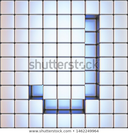 Cube grille lettre 3D rendu 3d illustration Photo stock © djmilic