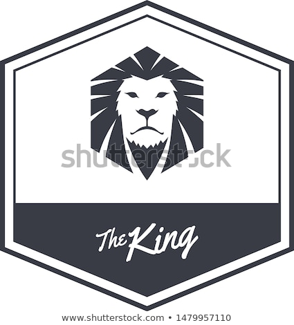 king lion endangered species logo sign vector Stock photo © vector1st