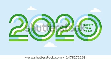 Szczęśliwego nowego roku karty numery pokoju dove oliwy Zdjęcia stock © ussr