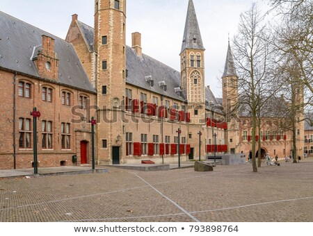 Em torno de abadia cenário holandês casa cidade Foto stock © prill