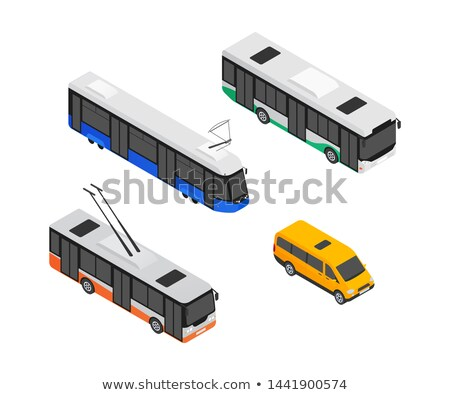 Minibus Car Service Means of Transport Isolated Stock photo © robuart