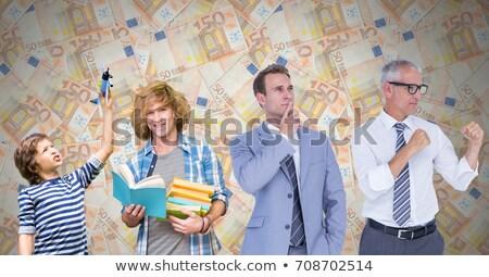 Homens idade gerações crescente para cima euro Foto stock © wavebreak_media