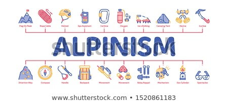Minimalny banner wektora internetowych kompas Zdjęcia stock © pikepicture