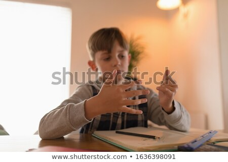 Görmek parmaklar matematik ödev Stok fotoğraf © wavebreak_media