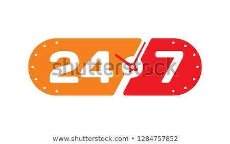 24 houten bureau telefoon internet Stockfoto © AndreyPopov
