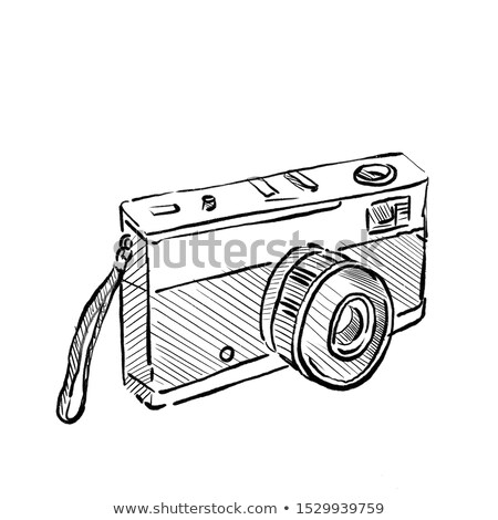 Vintage 35mm film camera tekening schets Stockfoto © patrimonio