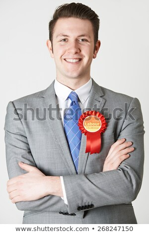 Portrait Of Labour Politician Against White Background Stock photo © HighwayStarz