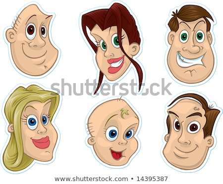 Smiling Face Fridge Magnet/Stickers #3 Stock photo © robStock