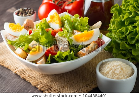 salad with eggs Stock photo © tycoon