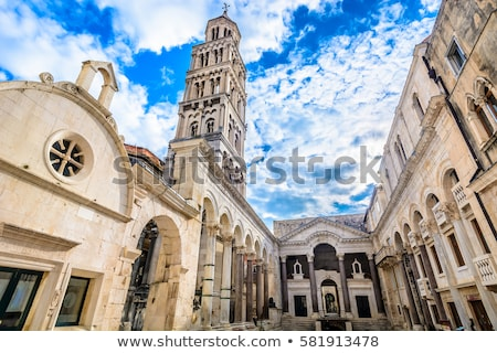 Catedral Croacia católico campana torre Foto stock © borisb17