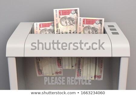 Rupee Banknotes In Shredder Stock photo © albund