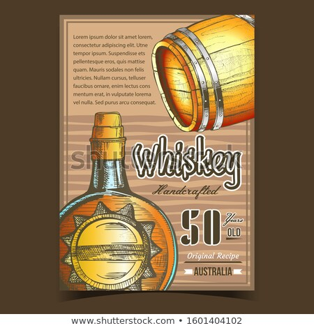 Handcrafted Whiskey Advertising Banner Vector Stock photo © pikepicture