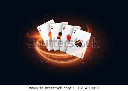 Casino spelen kaart gouden licht streep Stockfoto © SArts