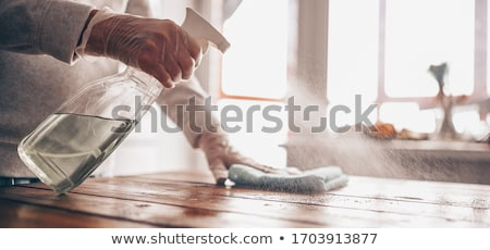 Spraying cleaning or antibacterial fluid  Stock photo © simazoran