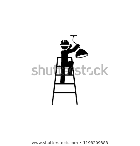 solar installation workers icon vector outline illustration Stock photo © pikepicture
