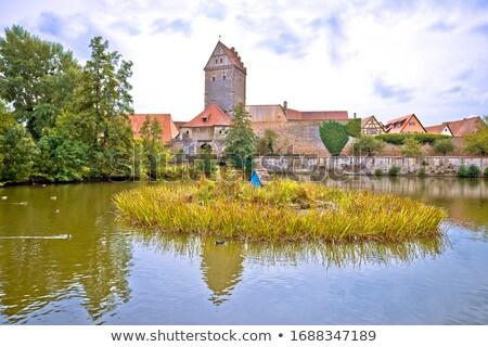 Kasaba göl doğa görmek romantik Stok fotoğraf © xbrchx