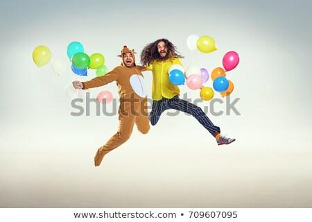 портрет два детский смешные моде друзей Сток-фото © konradbak