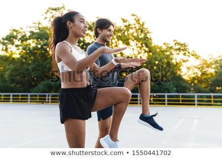 Photo athlétique exercice Photo stock © deandrobot