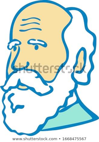 Nerdy Charles Darwin Doodle Mascot  Stock photo © patrimonio