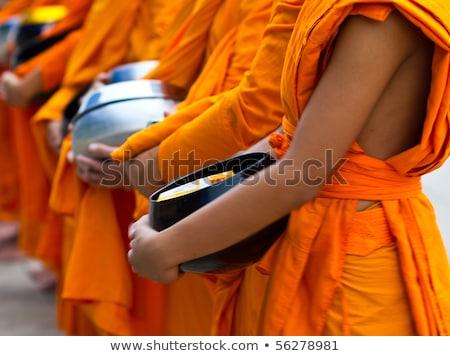Fekete szerzetes Thaiföld Phuket nyár nap Stock fotó © bloodua
