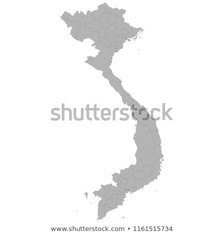 Vietnam country map, simple black silhouette on gray Stock photo © evgeny89