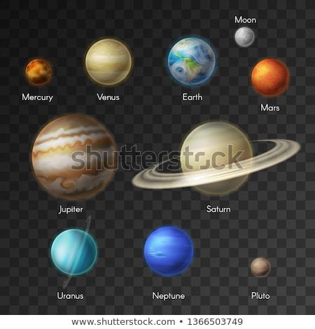 現実的な 冥王星 惑星 テクスチャ 透明な 明るい ストックフォト © evgeny89