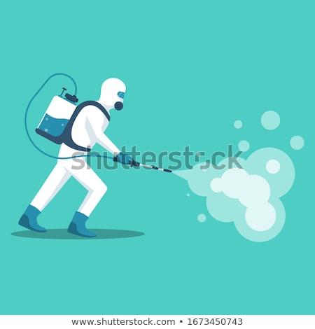 respirator mask protection danger radiation Stock photo © yupiramos