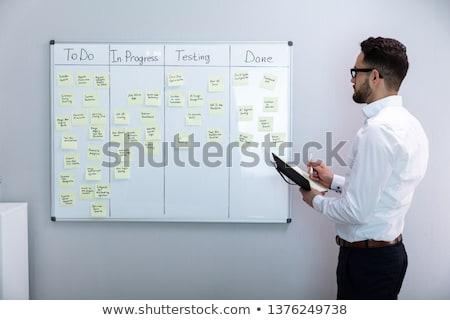 Harmonogram plan pokładzie ściany zadanie Zdjęcia stock © AndreyPopov
