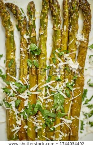ホット 新鮮な アスパラガス パルメザンチーズ ストックフォト © dash
