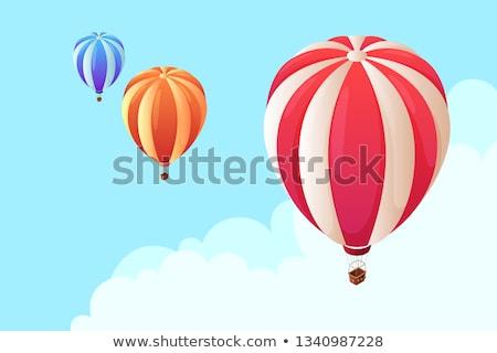 вектора изометрический воздушном шаре горячей воздуха шаров Сток-фото © tele52