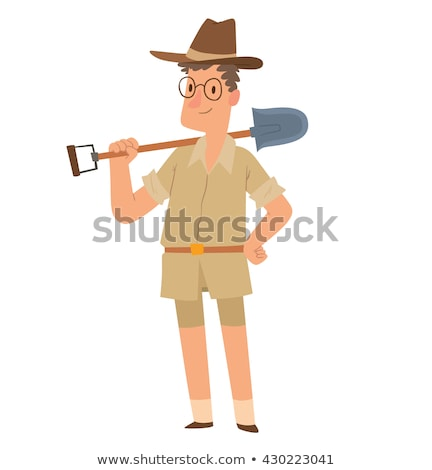 Cartoon Archaeologist on a Dig Stock photo © Voysla