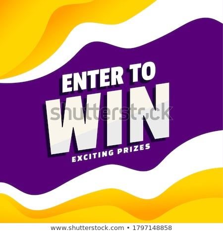enter to win exciting prizes modern banner template design Stock photo © SArts