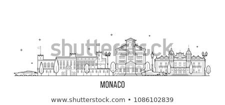 Monaco · kathedraal · boom · gebouw · straat - stockfoto © vladacanon